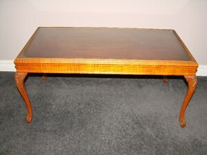 Coffee Table  Cherry Wood with Glass inlay
