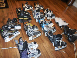 KIDS HOCKEY SKATE YOUTH CHILDS BOYS 11, 12 3 , 1.5 Bauer oNE.4 Y