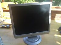 Computer monitor with built in speakers. Screen. PC