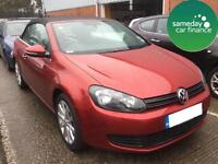 £254.97 PER MONTH RED VW GOLF 1.6 BLUEMOTION TECH SE DIESEL MANUAL