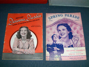 2 DEANNA DURBIN SHEET MUSIC BOOKS-SPRING PARADE-1940/50S