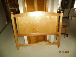 """natural wood headboard for double bed(53"""")"""