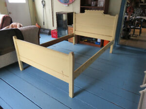 Antique wooden bed frame