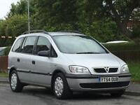 Vauxhall/Opel Zafira 1.6i 16v 2004MY Life,7 SEATS LONG MOT,READY TO GO
