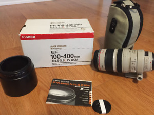 Canon EF 100-400mm f/4.5-5.6L IS USM Telephoto Zoom Lens for Can