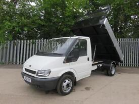 FORD TRANSIT 350 2.2 TDCI ONE WAY TIPPER 100 BHP NEW TIPPER BODY EX BT
