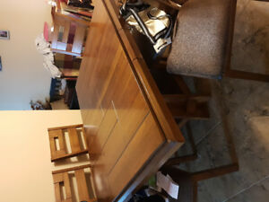 7 piece Dark Oak Dining table and chairs