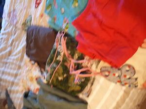 Various scrub pants and tops