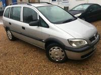 2004 '04' Vauxhall Zafira 1.8 AUTO. Petrol. Automatic. 7 Seater MPV. Px Swap