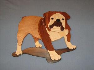 Intarsia English Bulldog