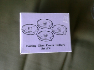 BRAND NEW FLOATING GLASS CANDLE HOLDERS