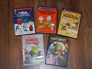 CHARLIE BROWN DVDS **CLASSICS**  AND SHREK  **SPECIALS**