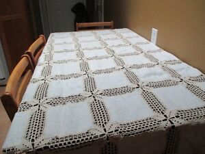 crochet table cloth.