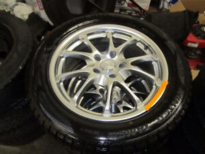 225/55/17 WINTER TIRES ON FAST ALLOY RIMS