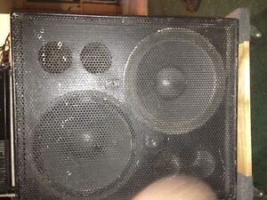 """2x15"""" Subwoofers and Cabinet"""