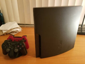 PS3 Slim 320gb CECH-3001B + 2 Controllers - Used Very Good