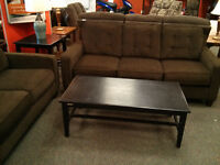 COUCH LOVE SEAT AND COFFEE/END TABLES
