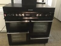 Leisure Black dual fuel Range Cooker