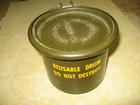 Round Military ammo containers