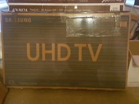 SAMSUNG 43 INCH 4K SMART TV BRAND NEW BOXED CALL 07550365232