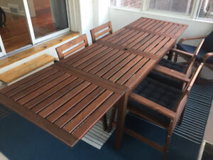 Ikea Applaro Garden Dining Table & 4 Chairs With Cushions