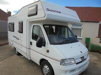Elddis Suntor RL400 Motorhome for sale 4 berth L shape lounge 2 seatbelts