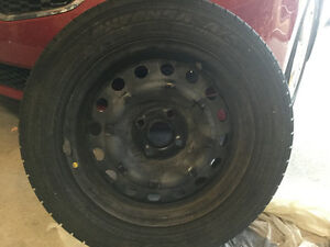 "15"" Snow Tires with Rims"