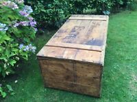 Large pine GWT luggage trunk