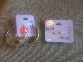X2 new packs of earrings from Claires £1 each