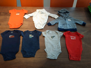 EUC Carter's baby boy 3 mo lot 7 pcs