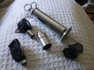 Doctors medical equipment attachments.