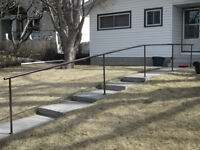 Metal Hand Rail--very well constructed
