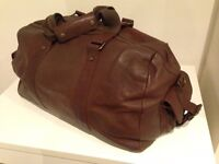 Men's Brown Hold-all 100% leather