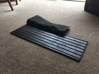 Heavy duty rubber ladder levelling safety mat