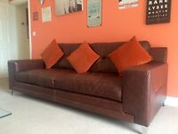 DFS 3.5 seater Leather Sofa