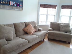 Deep 3 seater sofa and chair