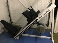 Leg press/hack squat machine