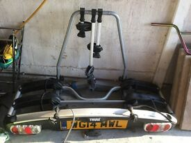 Thule G6 tow mounted bike rack with adapter for extra bike