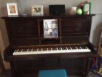 Bernard Brock Piano + mid Century modern Piano chair
