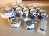 China tea set waterside
