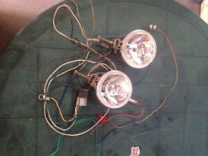 2 driving lights with all wiring