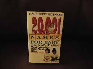 20,001 Names For Babies Book