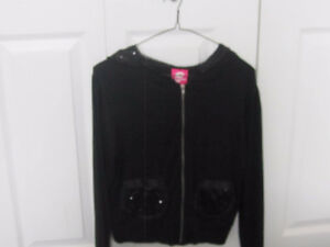 Pink Lipstick Sequin Hoodie - Medium - New