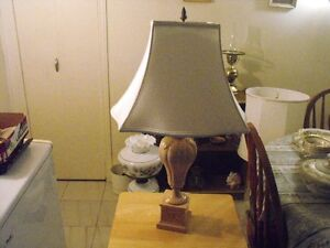 "29 1/2"" tall porcelin base lamp"