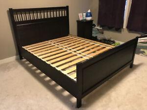 Black iKEA Queen Hemnes bed frame