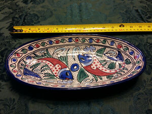 Bowl, hand painted.  Heavy and durable very decorative. Brand ne