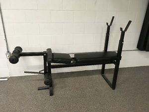 Workout Bench with leg attachment
