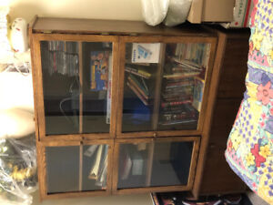 Large wooden book case or china cabinet