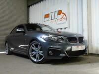 BMW 220d coupe m sport 2 dr ULEZ LEATHER SUNROOF FSH 2014 6 SPEED