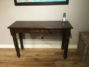Wicker emporium solid wood console table smoke free